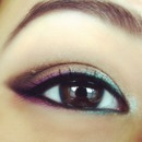 Purple and green liner