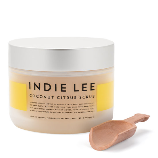 Indie Lee Coconut Citrus Body Scrub product smear.
