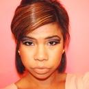Clubbing glitter eyes makeup