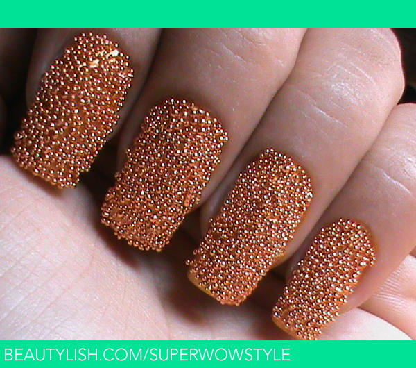 Caviar Nails Diy How To Do Caviar Nail Art At Home With Cavair