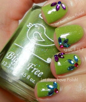 A Simple gem look featuring Chick Nail Polish in Hipster Chick