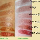 w7 Nude set of 6 lipstick swatches