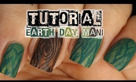 Earth Day 2014 Nail Art Tutorial