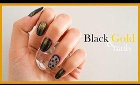 Black & Gold Nails ● Nail Art