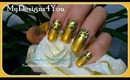 GOLD LEOPARD PRINT NAILS, TUTORIAL, HOW TO - ♥ MyDesigns4You ♥