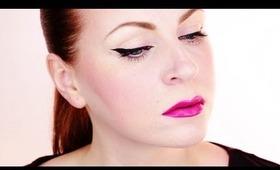 Dokonalé očné linky a výrazné ústa (Perfect eyeliner & bright lips - in SLOVAK)