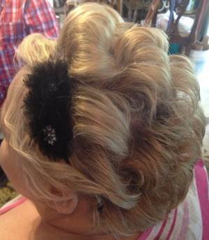 VERY Short hair up do Bridal Looks By Christy Farabaugh