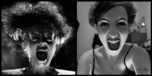 Bride of Frankenstein (halloween costume) I had to.