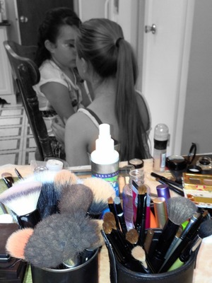 Doing Emily's makeup for her 8th Birthday !