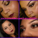 Fall Bronzy Eye With A Vampy Lip
