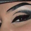 Latino chola eye liner love this!