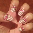 vintage floral nails