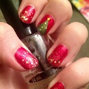 Christmas with gold glitter