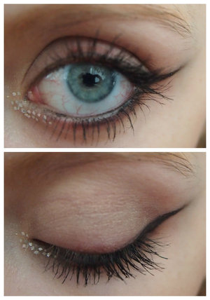 This is a day when I was messing around with sparkles and eyeliner!