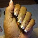 Pearl polish Acrylic nails