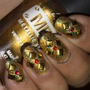 Golden Katy Nail Art