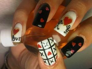 Valentine's nails!!