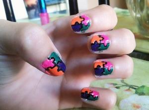 Puzzle nails :)