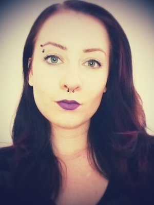 Lovely matte purple shade of lipstick from M.A.C.  Very heavily pigmented and the colour holds very well.