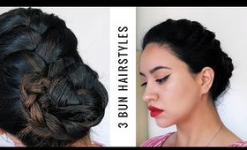 3 Easy Braided Bun Hairstyles | Alexa Likes