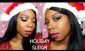 Holiday Sleigh Makeup Tutorial | Glitter Lips