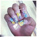 encapsulated nails with 3d flowers