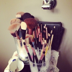 After MONTHS I finally got my brush holders. No more storing my brushes in a Staples pen holder hahah.