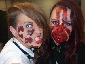 Me and a Friends make up for Halloween 2012, Zip face and scabs