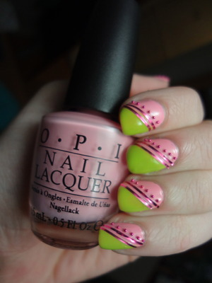 My nails are now dedicated to Nicki 4 life Hahaha. OPI Pink friday & Did it on 'em! Nail art decorations from www.bornpretty.com!