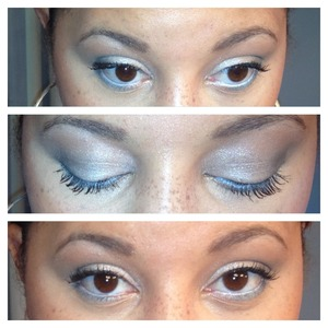 Fun sliver and white look for the holidays!