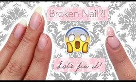 How to Replace/ Fix a Nail | Updated tutorial ♡