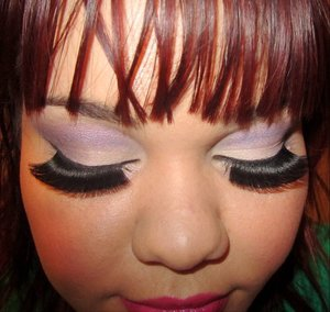 coloured pin up look