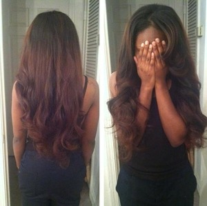 Sew In with minimum leave out, with a light ombre!