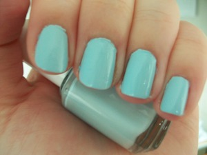 Essie Borrowed and Blue Nail Polish  To read my review of the polish please visit my blog:   www.mazmakeup.blogspot.com
