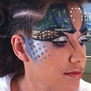 This was Futuristic Makeup for a Runway Show! 🚀👽
