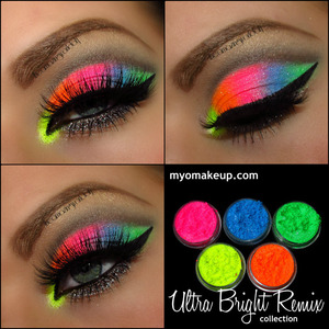 Used the new Ultra Bright Remix set from myomakeup.com!