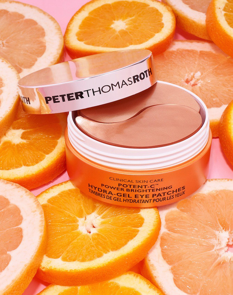 Alternate product image for Potent-C Power Brightening Hydra-Gel Eye Patches shown with the description.