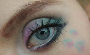 This is my Monster's Inc. inspired eye makeup that I wore today!