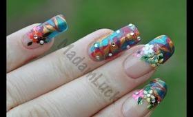 Rio Inspired Nail Art