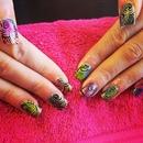 Hand painted swirls
