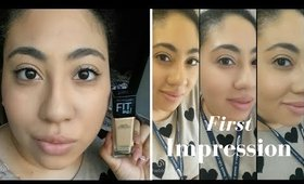 FIRST IMPRESSION: Fit Me Matte & Poreless Foundation by Maybelline