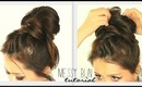 ★ CROWN BRAID BIG MESSY BUN TUTORIAL | CUTE SCHOOL HAIRSTYLES FOR MEDIUM LONG HAIR | UPDOS PROM
