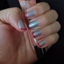 Gray and red