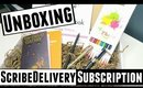 UNBOXING: SCRIBEdelivery Subscription Service