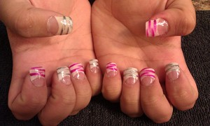 The first set of acrylics successfully done by me :)