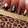 Studded leopard print