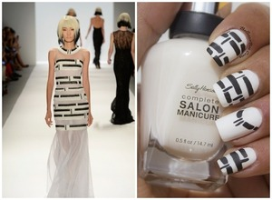 Find more details here: http://www.bellezzabee.com/2013/09/inspired-by-carmen-marc-valvo-for-nyfw.html