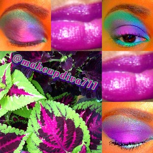My inspiration for this look was my mom's coleus plant.