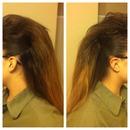 Long hair faux hawk
