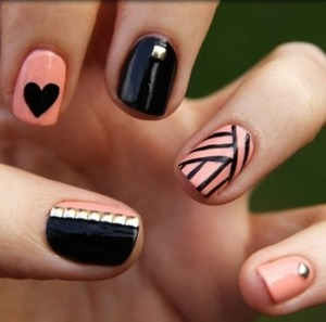 Cute nails design  Easy to do(: follow me and I follow back